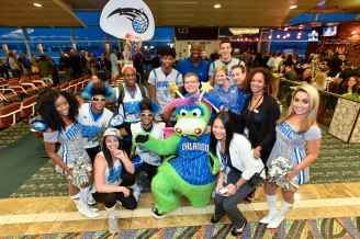 ORLANDO, FL - NOVEMBER 19: Orlando Magic players join forces with Southwest to work a scheduled flight on November 19, 2015 at Orlando International Airport in Orlando, Florida. NOTE TO USER: Mandatory Copyright Notice: ©2015 Fernando Medina/Orlando Magic